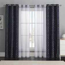 Exclusive Home Chateau Striped Faux Silk Grommet Top Window Curtain Panels  - 54