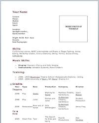 Actors Resume Sample Acting Resume Beginner Samples Acting Resume ...