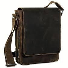 jack georges arizona cross bag handmade in brown rustic buffalo leather