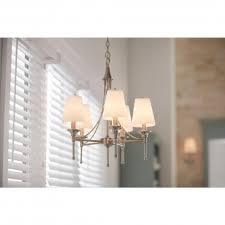 hampton bay sa 5 light satin nickel chandelier