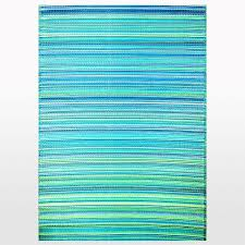 tropic outdoor rug in turquoise