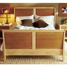 View a Larger Image of Woodworking Project Paper Plan to Build Maple &  Cherry Sleigh Bed