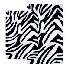 Zebra Bathroom Rug Chesapeake Safari Zebra Contemporary Bath Rug 2 Piece Set