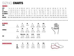 Uk Glove Size Conversion Chart Northwave Size Guide