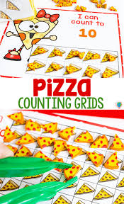 Free Pizza Mini Eraser Counting Grids For Preschool Life