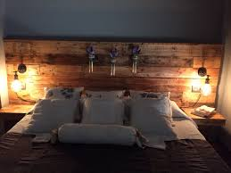 Pallet Headboard With Lights Headboard With Lights