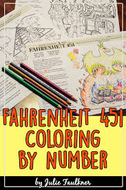 Free for homeschooling parents and teachers / classroom the subject our first color by number printable is a teddy bear. Fahrenheit 451 Coloring Activity Fahrenheit 451 Color Activities Reflection Math