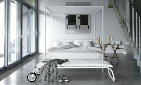 White Canopy Bed Contemporary White Metal Canopy Bed Full Size White ...