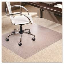image of rectangle glass chair mat