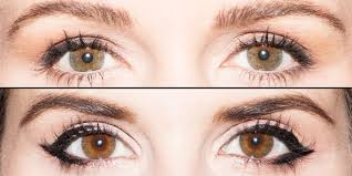 eyeliner for eye shapes chart get the perfect eyeliner for your eye shape in 1 handy chart