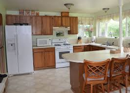Java Stain Kitchen Cabinets Good Gel Stain Java Before And After Kitchen Cabinets Like