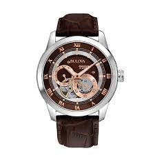 men s bulova bva series automatic watch brown dial model men s bulova bva series automatic watch brown dial model 96a120 bulova zales
