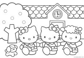 Just print out and have fun! Hello Kitty Coloring Pages School Coloring4free Coloring4free Com