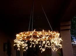 rustic outdoor chandelier lighting