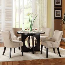 modern dining room design round table dining sets cream carpet