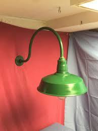 Abolite Lighting Gooseneck Old Original Green Abolite Gooseneck Barn Light Enamel
