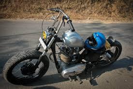 old 350cc bullet bobber in ape hanger handlebars 350cc com