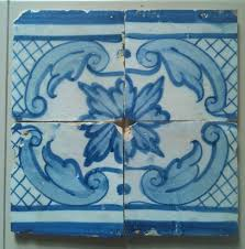 antique ceramic panel tile 4 portuguese handmade tiles circa 1795