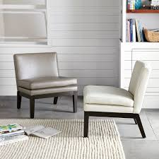 outstanding leather slipper chair west elm in white slipper chair ordinary
