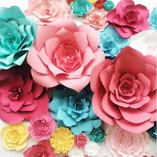 How To Make Paper Flower Backdrop Custom Color Special Order Paper Flowers For Weddings And Events