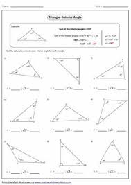 exterior angles triangle worksheet. printable worksheets contain classifying and identifying triangles based on sides angles; area perimeter; exterior angles triangle worksheet