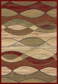 8x10 area rug rugs new modern abstract wavy waves red contemporary area rug 8x10