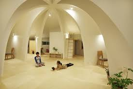 OpenConcept Japanese Family Home With Domed Interior Fascinating Interior Design Homes Concept
