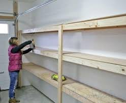 full size of diy hanging garage shelves plans build overhead storage save thousands building in home
