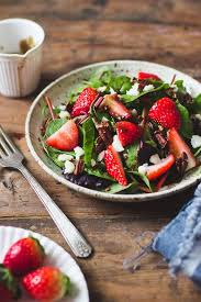mixed green salad with strawberries. Plain Strawberries Strawberry And Mixed Green Salad  Recipe Pinterest Green Salads  Healthy Recipes Inside With Strawberries R