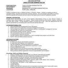 Systems Engineer Job Description Administrative Manager Resumeample Human Resources With Regard 1