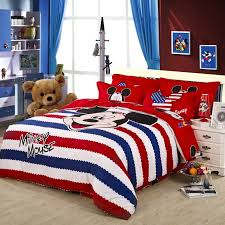 mickey mouse comforter set for toddler bed america style red striped duvet cover bedding sets 4