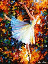 ballet palette knife oil painting on canvas by leonid afremov art deco art deco furniture