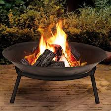 garden fire pit. Cast Iron Fire Bowl Firepit Garden Outdoor Modern Stylish Pit Ambience