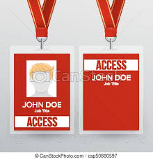 Conference Realistic Security To Conference Illustration Business For Pass Lanyard Plastic Template Mock Up Press Card Vector Id Identity Badge