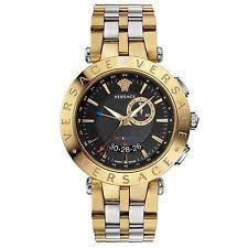 versace watch men versace men s 29g79d009 s079 v race gmt alarm date gold ip stainless steel watch
