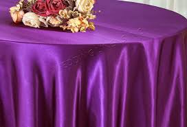 108 round satin table overlay purple 55643 1pc pk