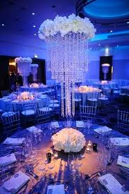 chandelier table decorations crystal
