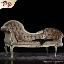 2018 French Rococo Style Chaise Lounge Italian Classic Furniture,European  Classic Antique Bedroom Furniture Luxury Solid Wood Chaise Loungue From ...