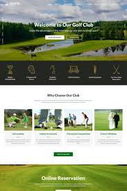 Golf Course Website Design Golfix Golf Club Multipage Html Website Template Html