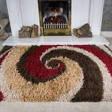 image is loading redbrowngoldfluffyswirlshaggyshagarea fluffy brown rug r55 fluffy