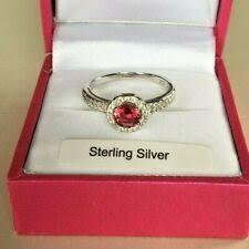 Cubic Zirconia Sterling Silver Ruby Fine Rings for sale | eBay