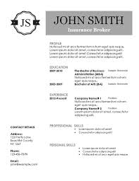 Free Printable Resumes Templates 14985 Butrinti Org