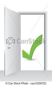 open door with accept symbol csp12200723