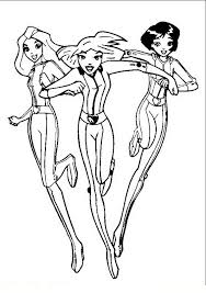 Totally Spies Kleurplaat 2