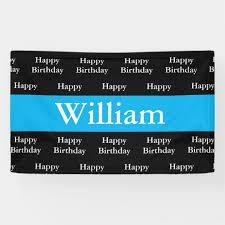 happy birthday customized banners happy birthday william custom banner