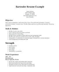 Bartending Resume Examples Unique Example Bartender Resume Examples Of Resumes Free Templates