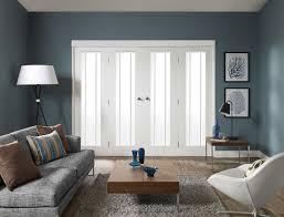 freefold worcester clear glass white internal folding sliding doors