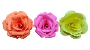 Rose Flower With Paper How To Make Paper Rose Flower Very Easy Hd Youtube