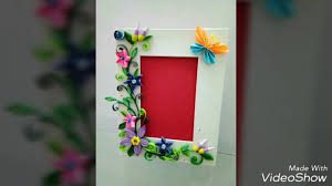 Paper Quilling Flower Frames Photo Frame How To Make _paper Quilled Flowers Steps Youtube