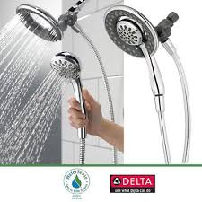 delta faucet in2ition 4 function handheld dual shower head 2 in 1